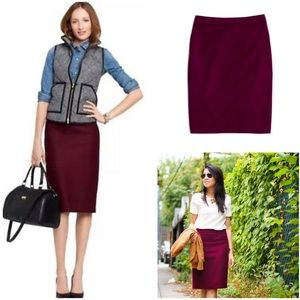 J.Crew No. 2 pencil skirt in double-serge wool